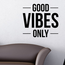Good Vibes Only Wall Decal Sticker Inspirational Quote #1349