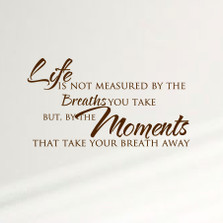 Life Is Not Measured By The Breaths You Take... Home Wall Decal Sticker Inspiration Family #1356