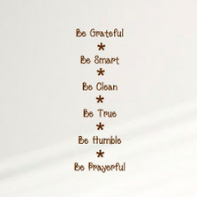 Be Grateful Be Smart ... Home Wall Decal Sticker Inspiration Family Quote #1357