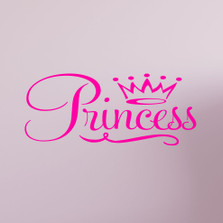 Princess Crown Wall Decal Quote Sticker Removable Nursery Decor #1365