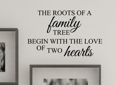 Family Tree Roots Love Wall Decal Quote 1383
