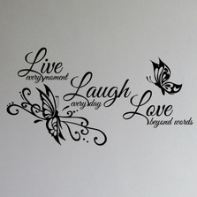 Live Love Laugh Family Wall Decal Art #1468