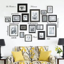 Set of 12 Family Quote Words Vinyl La Familia Es Spanish Wall Decal #1476