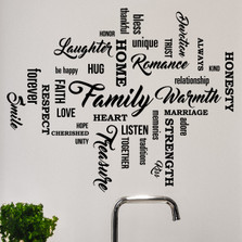 Set of 35 Family Quote Words Vinyl Wall Decal  #1477