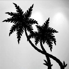 Palm Tree Vinyl Wall Decal (2 Trees) #1488