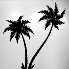 Palm Tree Vinyl Wall Decal (2 Trees) #1489