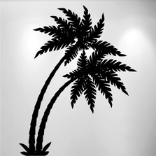 Palm Tree Vinyl Wall Decal (2 Trees) #1490