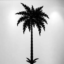 Palm Tree Vinyl Wall Decal (1 Tree) #1491