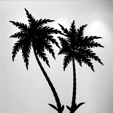 Palm Tree Vinyl Wall Decal (2 Trees) #1492