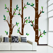 Large Wall Vinyl Birch Tree Forest Decal #1470