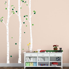 Birch Tree Wall Decal Set of 3 Trees #1505