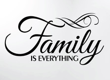 Family is Everything Wall Decor Decal Quote Word Vinyl Sticker Family Decals for Wall Room Art Decoration #3071
