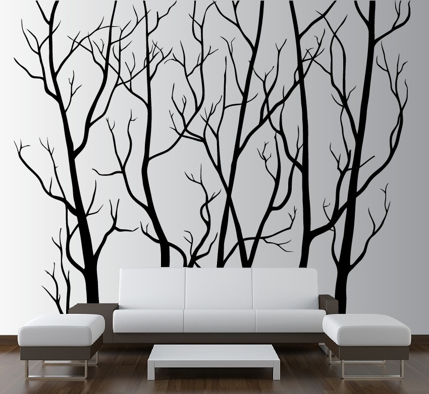 Large Wall Vinyl Tree Forest Decal Removable 1111