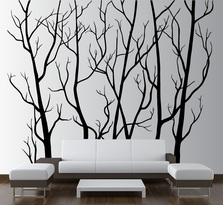 Large Wall Vinyl Tree Forest Decal Removable #1111
