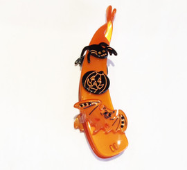 HALLOWEEN BANANA CLIP WITH CRYSTALS # 15846O