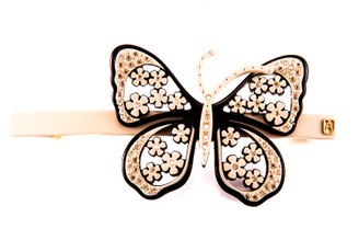 Barrette Butterfly Crystals AA10-15444-02Y. PRE-ORDER