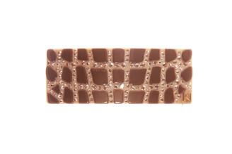 BARRETTE SMALL CROCODILE DESIGN  CRYSTALS AA6-15689-02H-$245