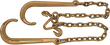 V-Bridal Chain W/Forged Hooks - VB516-24