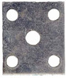 Tie Plate - 5 Hole Square - TP5HSQ