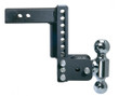 "Adjustable Ball Mount - 7"" Drop & 7-1/2"" Rise with 2"" & 2-5/16"" Trailer Balls - TS10040B"