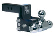 "Adjustable Ball Mount - 3"" Drop & 3-1/2"" Rise with 1-7/8"", 2"" & 2-5/16"" Trailer Balls - TS10047B"