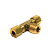 "Brass Compression ""T"" Fitting - 1/4"" - BRLF72X4X4X4"