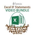 Excel IF Statements VIDEO BUNDLE