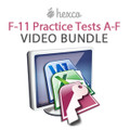 F-11 Practice Tests A-F VIDEO BUNDLE