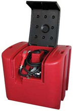 450ltr Portable Poly Diesel Tank with 12v Fuel Pump Kit in Lockable Housing - Alemlube (L45040PA)