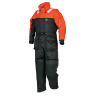 Mustang Deluxe Anti-Exposure Coverall & Worksuit - LG - Orange\/Black