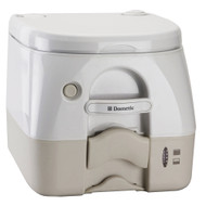 Dometic - 974 Portable Toilet 2.6 Gallon - Tan w\/Brackets