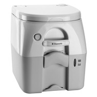 Dometic - SeaLand 975 Portable Toilet 5.0 Gallon - Grey w\/Brackets