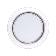 """Beckson 6"""" Clear Center Pry-Out Deck Plate - White"""