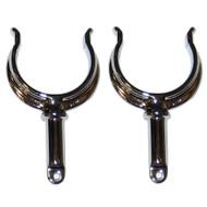 Perko Ribbed Type Rowlock Horns - Chrome Plated Zinc - Pair