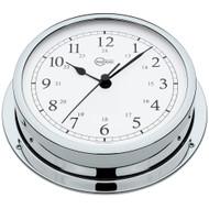 """BARIGO Viking Series Quartz Ship's Clock - Chrome Housing - 5"""" Dial"""