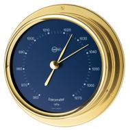 "BARIGO Regatta Series Ship's Barometer - Brass Housing - Blue 4"" Dial"