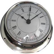 "BARIGO Sky Series Quartz Ship's Clock - Stainless Steel Housing - 3.3"" Dial - US Version"