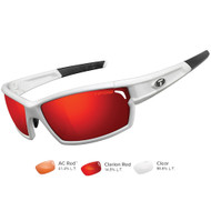 Tifosi Camrock Matte White Interchangeable Sunglasses - Clarion Red\/AC Red\/Clear