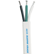 Ancor White Triplex Cable - 8\/3 AWG - Flat - 100'