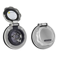 Furrion 30A Stainless Steel Round Inlet w\/Powersmart LED [F30ITS-SS]