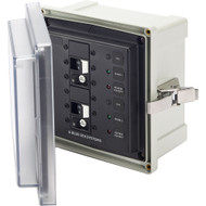 Blue Sea 3117 SMS Surface Mount System Panel Enclosure - 2 x 120V AC \/ 30A ELCI Main [3117]
