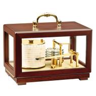 BARIGO Barograph Recording Instrument - Brass  Mahogany - Solid Top w\/Handle [2018]