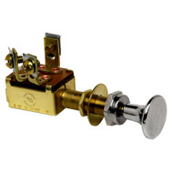 Cole Hersee Push Pull Switch SPST On-Off 3 Screw [M-527-BP]