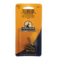"""Handi-Man Phillips Self Tapping Oval Screw Stainless Steel - #12 x 1"""" [642]"""