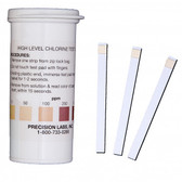High Level Chlorine Test Strips - 0-1,000ppm