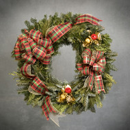 Plaid Holiday Deluxe Wreath