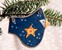 Blue Bird Star Ornament