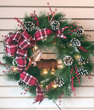 North Woods Moose Silk Wreath