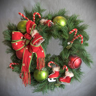 Festive Skate Silk Wreath