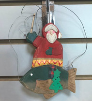 Santa Gone Fishing Ornament